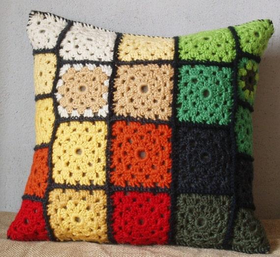 OrangeGreen Cushion cover 14x14in (35x35cm)