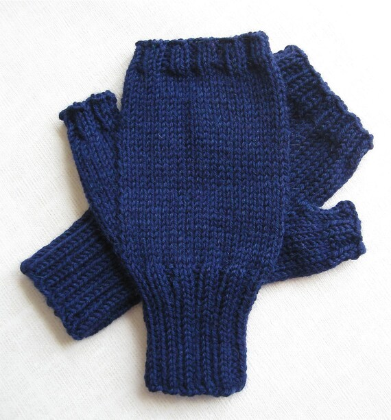 Fingerless Gloves for Men - Midnight Heather - size M/L