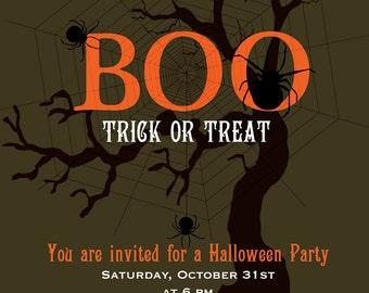 Printable Halloween Invitation..NOW ON SALE