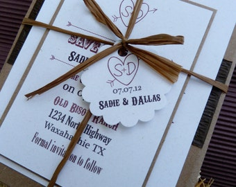 Rustic Country Western Invitation DEPOSIT