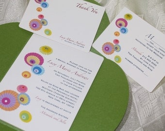 Colourful Parasols Wedding\/Shower Set