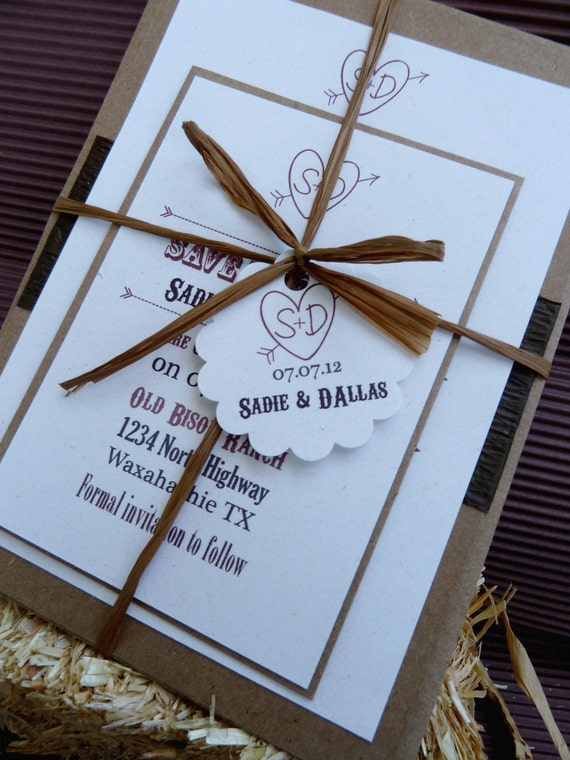 Rustic Country Western Invitation