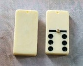 Drilled dominoes for pendants - Set of 10