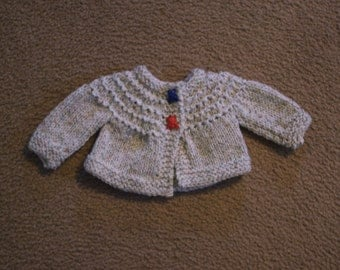 Hand Knitted - Tweed Color Knitted Baby Sweater