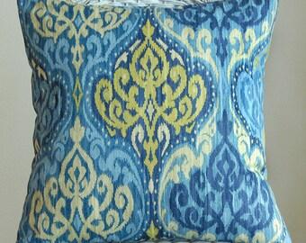 Azure Blue Lunar Sky Print 18x18 Pillow Cover--Last One Ready to Ship