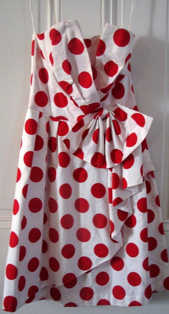 RED Polka Dot Designer Dress by Latrice of Bryn Mawr