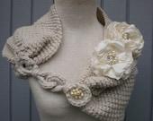 Bridal Shurg , Bridal Bolero,  Wedding Shrug, Bridal shawl, Wedding Shawl, Bridal Wrap, Winter Wedding Shawl  Capelet,