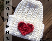 Easy Crochet Pattern Ribbed Infant Hat - newborn to 3 years - Pattern 304 INSTANT DOWNLOAD