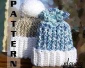Crochet Pattern Infant Hat Set Newborn to 12 months - Pattern 313 INSTANT DOWNLOAD