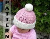 Baby Hat Cupcake Hat Beanie Hat Crochet Pattern newborn to 12 mos - 317 INSTANT DOWNLOAD