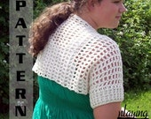 Easy Crochet Pattern Simple Shrug Women 508  INSTANT DOWNLOAD
