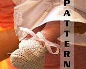 Baptism Christening Baby Booties 0 to 12 months sizes Crochet Pattern 321  INSTANT DOWNLOAD