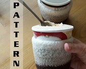 Ice Cream Cozy Cosy Holder Felted Crochet Pattern 603 INSTANT DOWNLOAD