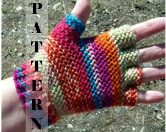Half finger or Fingerless Gloves Fingertip Hobo Gloves Sock Yarn PDF - Crochet Pattern 516  INSTANT DOWNLOAD