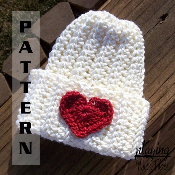 Easy Crochet Ribbed Hat Patterns : Easy Crochet Pattern Ribbed Infant Hat by PlayingWithFiber
