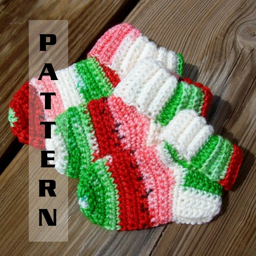 Free Crochet Sock Patterns Using Sock Yarn : Baby Socks Booties Crochet Pattern Sock Yarn by ...