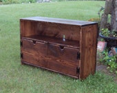 3 Foot Wide  Storage bench TV Cabinet Bench Shabby Chic Contemporary Primitive