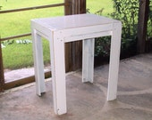 Wood End Table Rustic Bistro Table Studio apartment Table Dining Table Patio Table Distressed Primitive Shabby Chic Antique