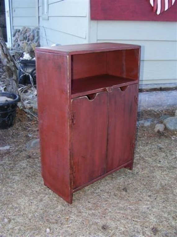 Tall wide end table tv cabinet any color