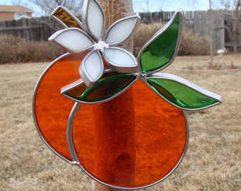 Stained Glass Oranges with Orange Blossom