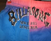 Vintage Shorts Billabong Australian Rare Surfer Swim Suit Collectible 80s NWT New Tags Neon Pink Blue Small