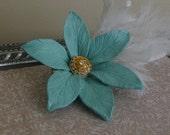 Tiffany Blue - Hair piece Fascinator