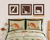 Dinosaur Squares Decal - toddler or play room - Vinyl Wall decal - Dinos