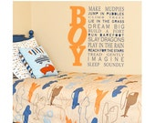 ALL BOY quote - nursery or toddler room decal