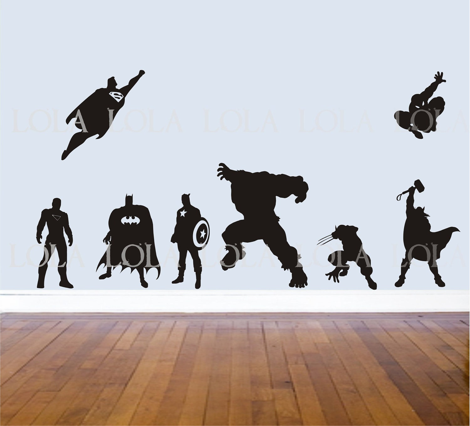 Super hero super hero wall decals super hero amipublicfo Images
