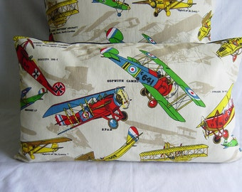 12 Quot By 20 Quot Vintage Airplane Fabric Pillowcase