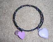 purple locket wrap bracelet