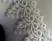 Ivory Lace Venise Style Dyeable for Bridal, Garters, Baptism Gowns, Costume or Jewelry Design L 2004