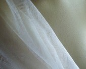 "Ivory Silk Tulle Illusion from England 67"" wide for Bridal, Millinery, Costumes"