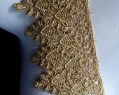 Gold Lace Metallic Venise Style Trim for Lyrical Dance, Ballet, Crowns, Costumes, Bridal, Jewelry Design GL 5
