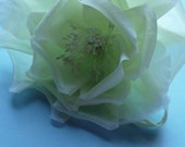 Silk Rose in Green for Bridal Sashes, Fascinators, Ring Bearer Pillows, Millinery, Corsages, Home Decor