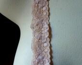 5 yds Peach Stretch Lace for Garters, Headbands, Lingerie  STR 1084pp