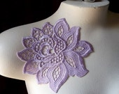 Lace Applique Flower in Lilac for Jewelry Design, Sweaters, Dresses, Gowns CA 790a