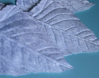 Velvet Leaves 3 Very Large in WHITE for Headbands, Fascinators, Hats,  Floral Supply, Crafts ML 51