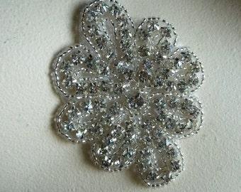 Rhinestone Applique for Bridal, Sashes,  Fascinators, Costume or Jewelry  RA 5