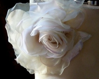 Ivory & Pink Rose Silk and Velvet Millinery for Bridal, Derby, Ascot, Bouquets, Sashes, Costumes, Fascinators MF 137 - 4873