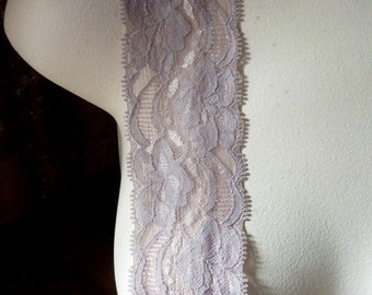 Stretch Lace in Mocha Smoke for Lingerie, Baby Headbands, Altered Couture  STR 2027