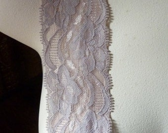 2 yds Mocha Stretch Lace for Lingerie, Baby Headbands, Altered Couture  STR 2027