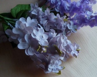 Silk Lilac Flowers in Soft Lilac for Bridal, Millinery, Floral Supply, Crafts, Corsages MF207