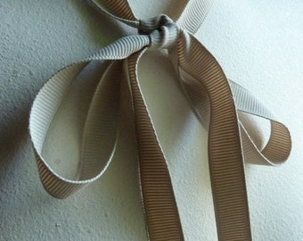 3 yds. Latte Grosgrain Ribbon 12mm Shindo for Bouquets, Gifts, Jewelry Supply, Millinery, Everything