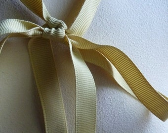 5 yds. Gold Ribbon Grosgrain 12mm Shindo in Maize for Bouquets, Gifts, Jewelry Supply, Millinery, Everything