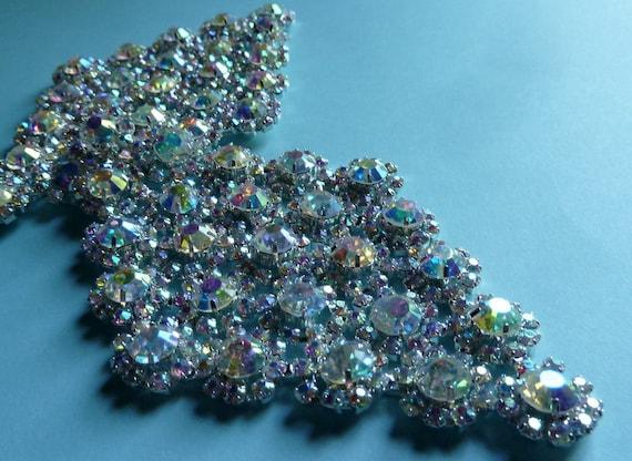 SALE Rhinestone Applique for Bridal, Costume or Jewelry Design  RA 12