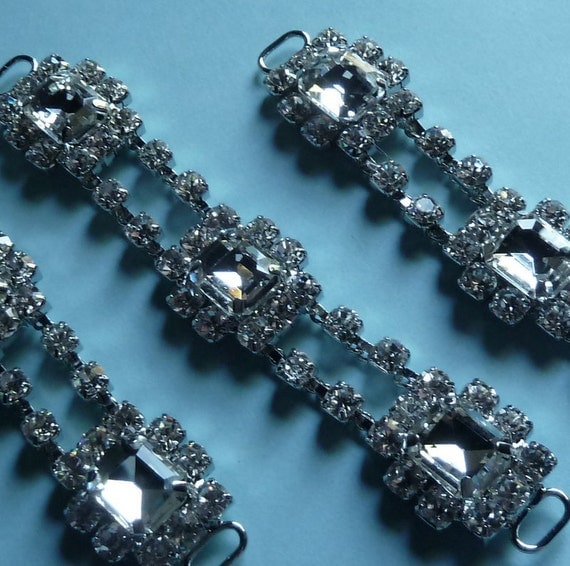 Rhinestone Connectors 3 larger size for Jewelry, Bridal or Costume Design