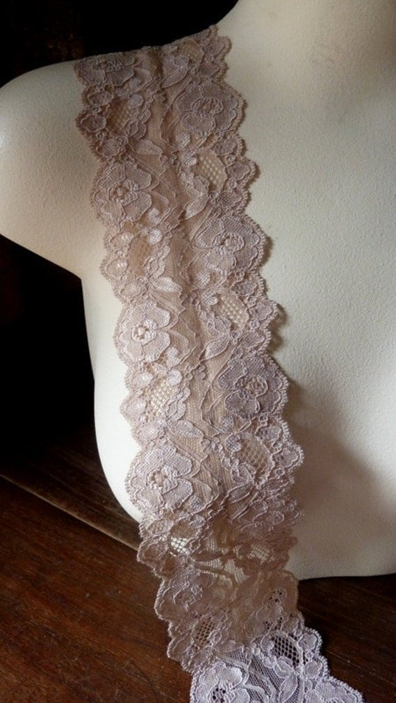 Stretch Lace in Nude Blush for Lingerie, Headbands, Garters  STR 1024nb