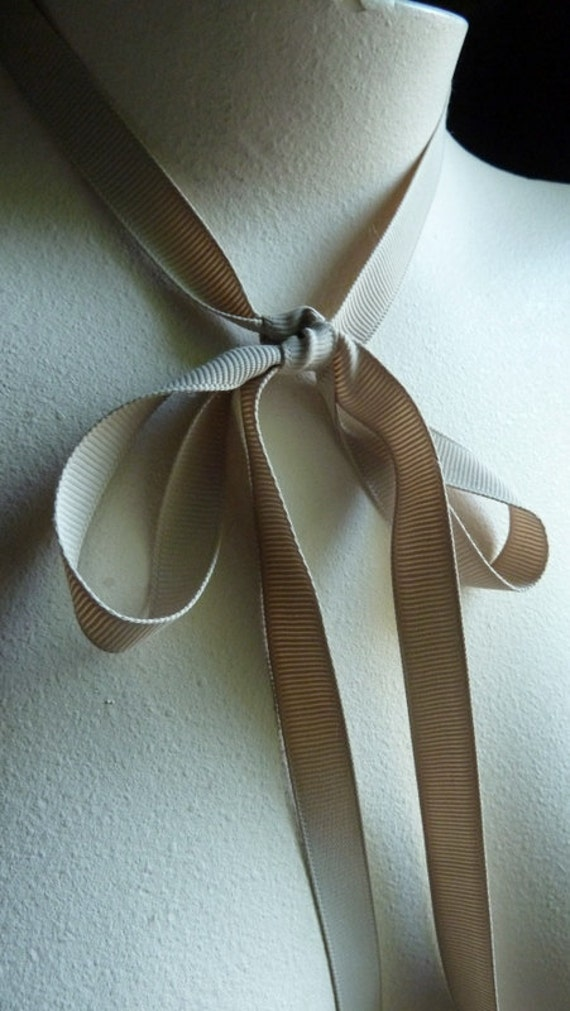 3 yds. Grosgrain Ribbon 12mm Shindo in Latte for Bouquets, Gifts, Jewelry Supply, Millinery, Everything