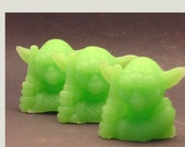 3D Yoda The Jedi Master Soap Favor (Aged Merlot Scented)